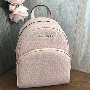 Michael Kors Med Backpack MiniLogo Ballet Rose W